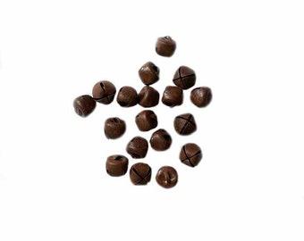 """10mm (3/8"""") Rusty Jingle Bell, 24 bells/pkg"""