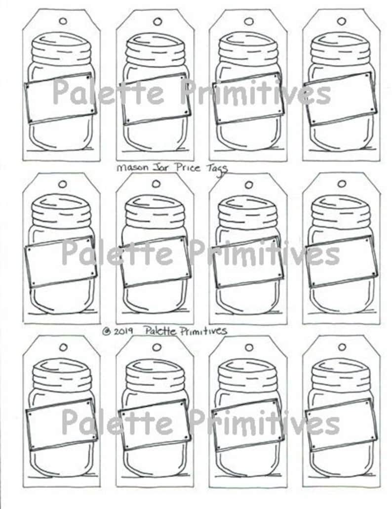 graphic about Price Tags Printable identified as Printable Dangle Tags, Mason Jar Selling price Tags, Present Tags, Instantaneous Obtain