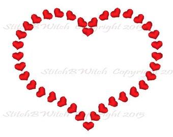Hearts Border   4x4 and 5x7