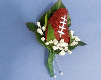 Football Rose Boutonniere
