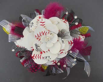 Baseball Sweetheart Wrist Corsage (Fancy)