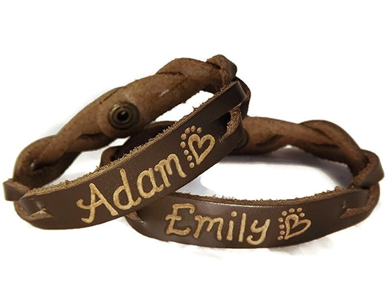 729cfbd0c4e Engraved Couples Braided Bracelets His and Hers Jewelry