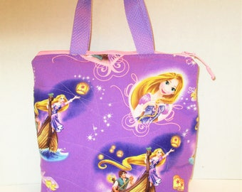 49a5f12f370 RTS Sale Beautiful Handmade Quilted Purple Princesses Purse or insulated lunch  bag 10 x 9 1 2