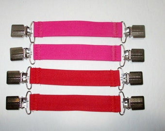 """Red or Pink Boot Clips Pant Clips 6.5""""  Boot Clips In the boot or under the boot  3/4"""" wide"""