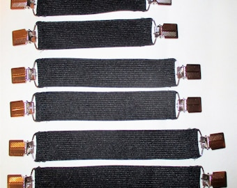 """New Wider Boot Clips Pant Clips 7"""" 8"""" or 9""""  Boot Clips In the boot or under the boot- 1 1/4"""" wide Suspender Guards"""