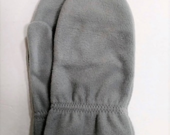 Mens L/XL Gray Fleece Mittens RTS  Ready To Ship