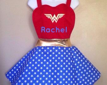 Wonder Woman DC inspired adult Apron