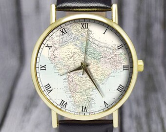 World map watch etsy more colours vintage india map world gumiabroncs Images