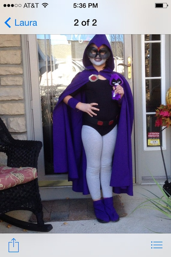 Childs Cape Inspired By Raven From Teen Titans  Etsy-2863