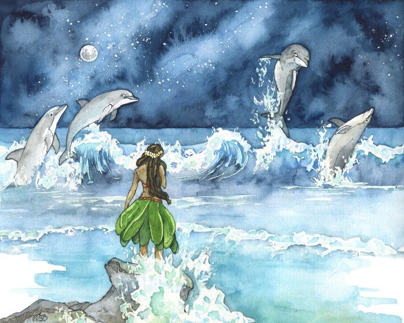 """Wave Dancers"" Watercolor Painting"