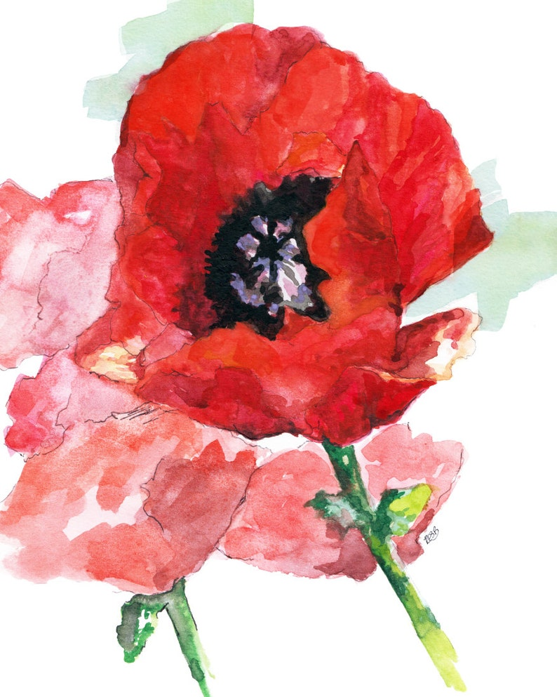 Flower Painting  Print from Original Watercolor Painting image 0