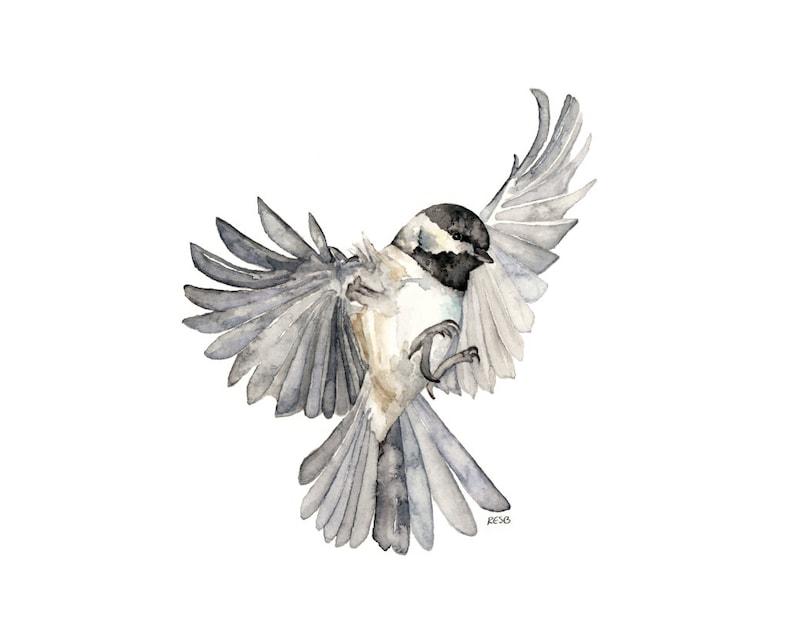 Bird in Flight Painting  Print from Original Watercolor image 1