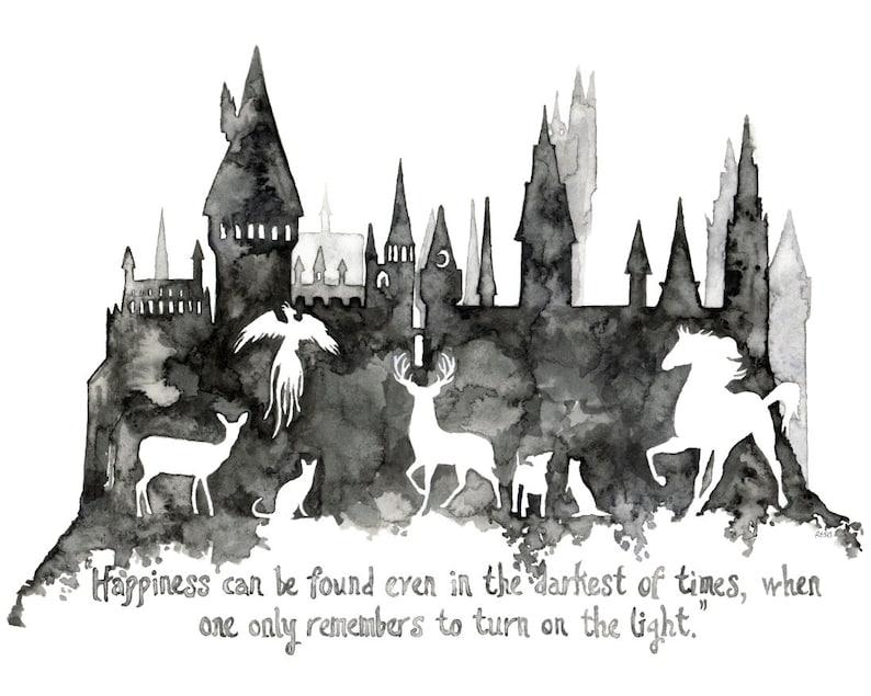 Fantasy Quote Painting Wizard School Wizard Castle Fantasy image 0