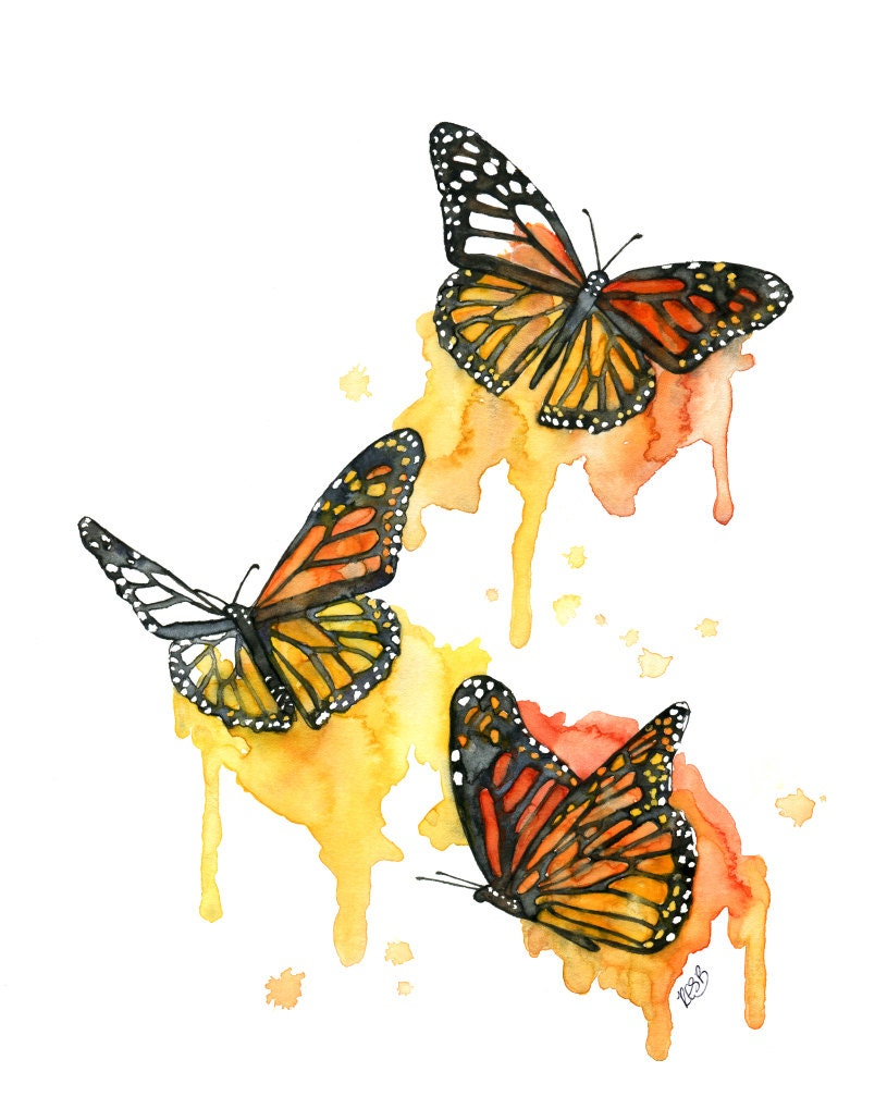 Watercolor Painting Butterfly Painting Butterfly Print | Etsy