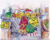Fruit Market Painting - P...