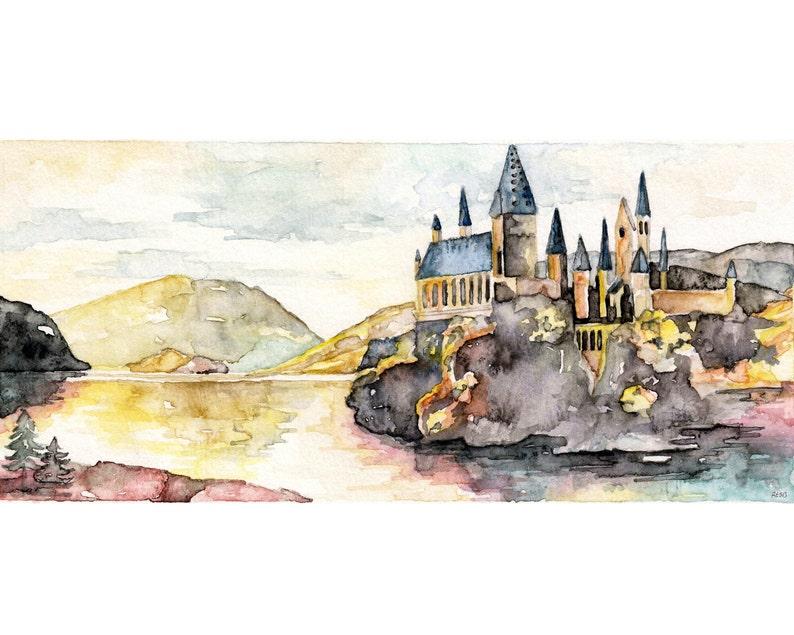 Fantasy Castle Painting Wizard School Wizard Castle Fantasy image 0
