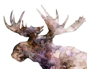 Moose Silhouette Painting...