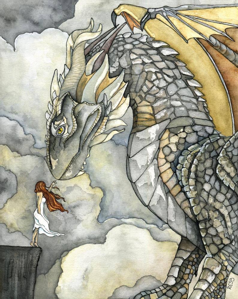 Dragon Painting Dragon Art Fantasy Art Fantasy Painting image 0