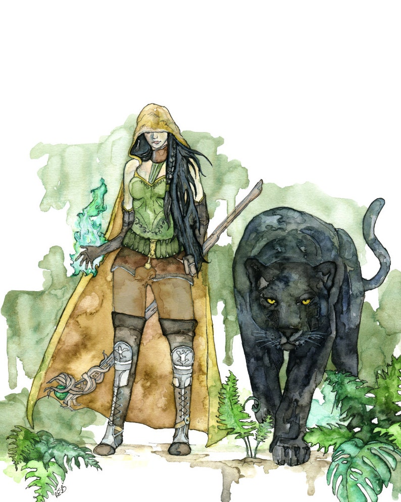 Druid Painting Watercolor Art Fantasy Art Fantasy image 1