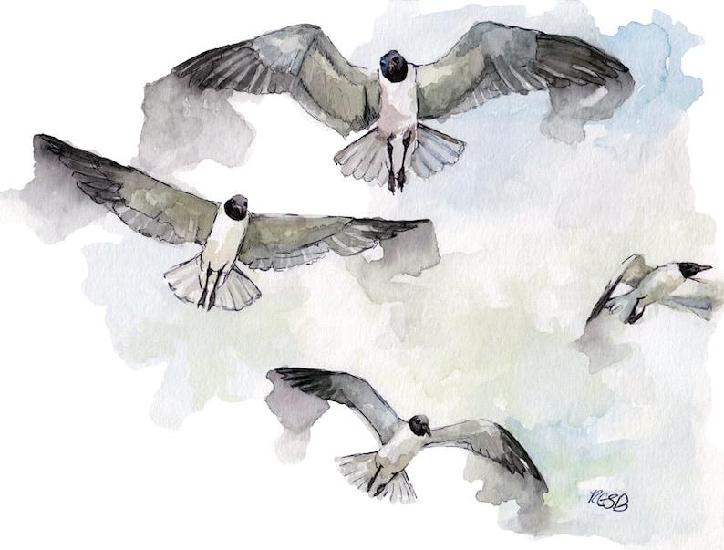 Bird Watercolor Painting  Print from Original Watercolor image 0