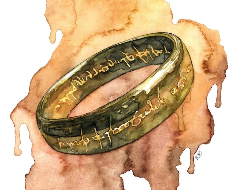 Elven Ring Painting Jrr Lord Fantasy Art Rings Fantasy image 0