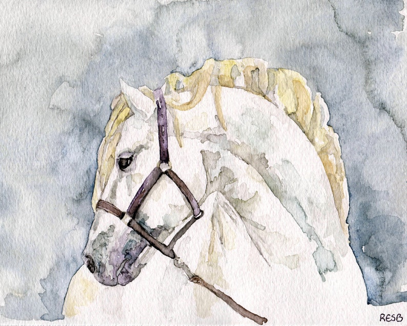 Horse Painting  Print from my Original Watercolor Painting image 0
