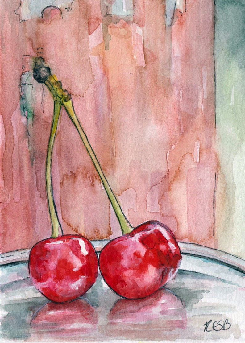 Fruit Painting  Print from Original Watercolor Painting image 0