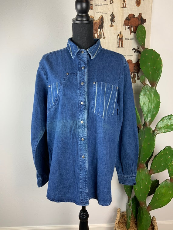 Vintage Miller Western Wear Denim Shirt