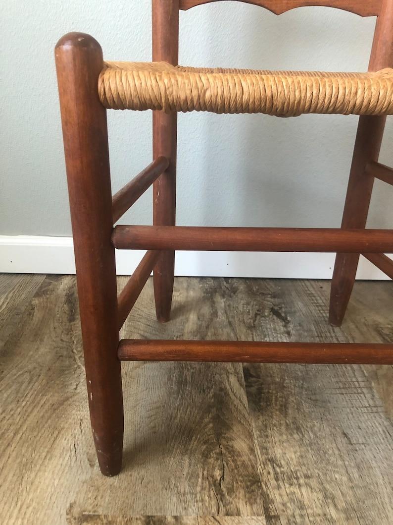 Vintage Ladder Back Cord Chair