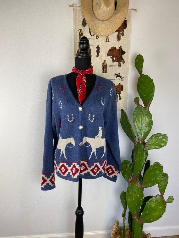 Vintage Women's Western Sweater Women's XL