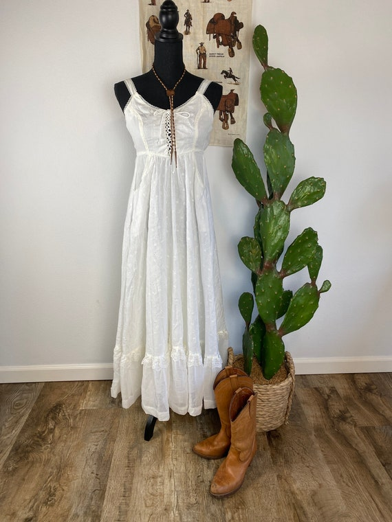 Vintage 1970s Gunne Sax Prairie Dress / Wedding Go