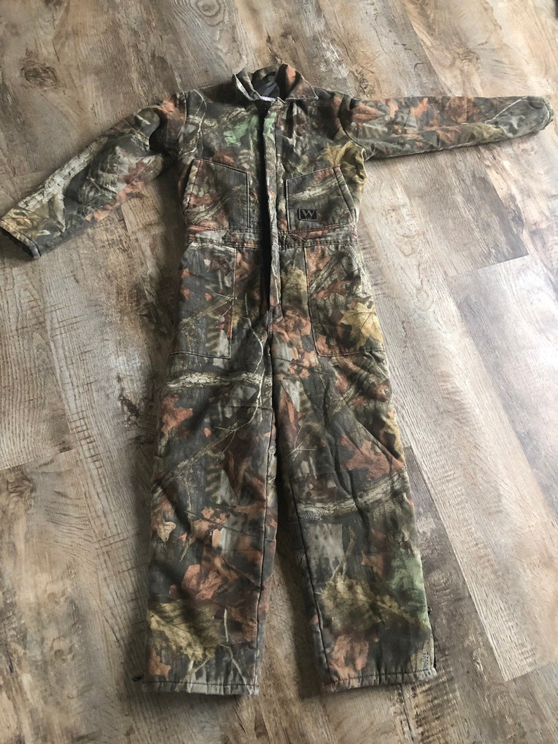 Vintage Walls Insulated Camouflage Coveralls Womens XS
