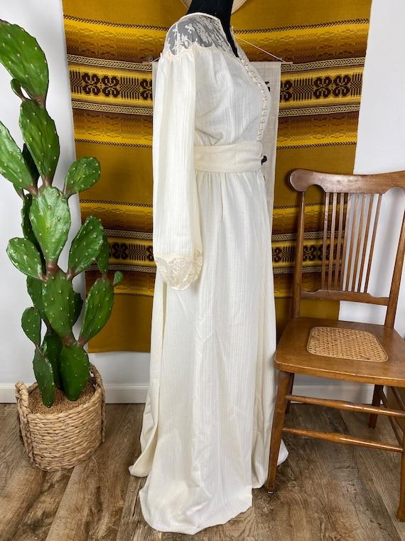 "Vintage 1970s ""Gunne Sax"" Style Prairie Dress / W… - image 6"