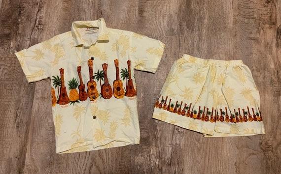 Vintage Kids Royal Hawaiian Creations Shirt and Sh