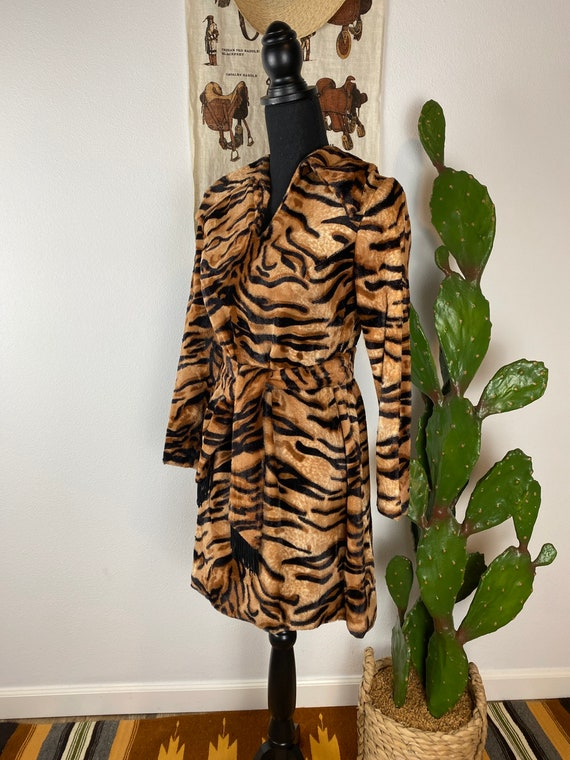 Vintage 1960's 70's Leopard Mini Dress
