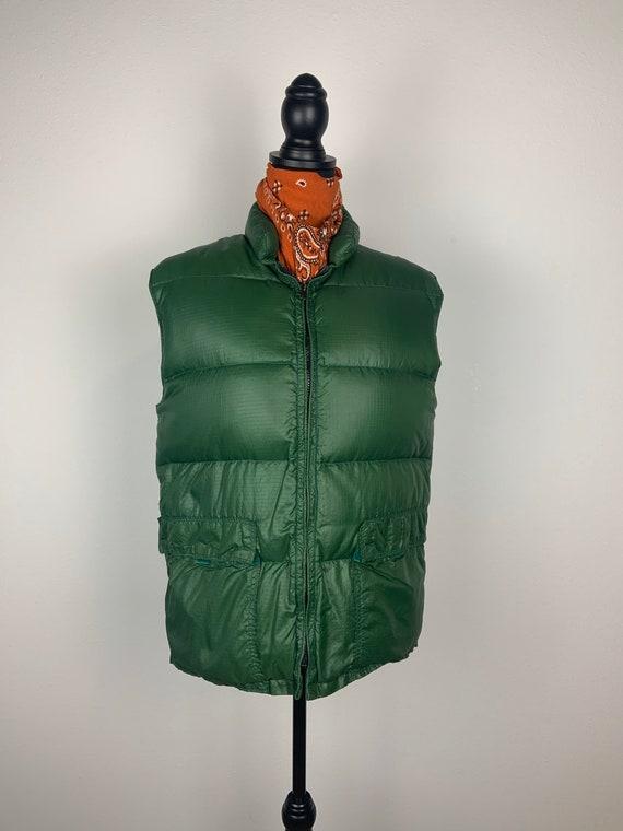 Vintage 1970s Frostline Kit Down Vest Sage Green