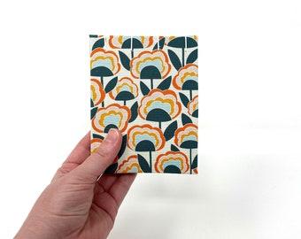 "Pocket Sketchbook, 4"" x 5"", Watercolor Journal, Travelers Notebook, Mix Media Paper, Drawing Paper, Guest book, Sketchbook Journal, CASSIDY"