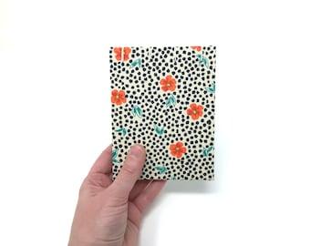 "Pocket Sketchbook, 4"" x 5"", Watercolor Journal, Travelers Notebook, Mix Media Paper, Drawing Paper, Guest book, Sketchbook Journal, ANYA"