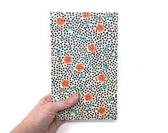 Lined journal with lay flat pages and pocket for notes. Optional lined, unlined or dotted pages.  Back to school. ANYA