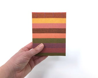"Pocket Sketchbook, 4"" x 5"", Watercolor Journal, Travelers Notebook, Mix Media Paper, Drawing Paper, Guest book, Sketchbook Journal, ELSIE"