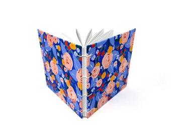 "Visitor Log Book, 6.5"" x 6.5"" Square, Travelers Notebook, Sketchbook Journal, Watercolor Journal, Guest book, Mix Media Paper, AMARI"