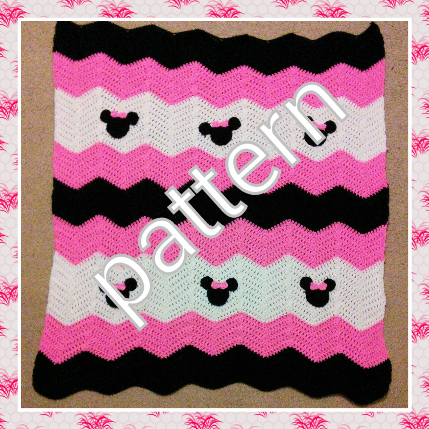 Minnie Mickey Mouse Crochet Pattern. Minnie Mouse baby blanket ...