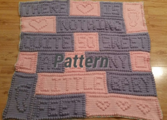 As Is Known Errors Crochet Pattern Baby Blanket Baby Feet Etsy
