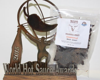 Chipotle Beef Jerky Award Winning BEST by Ria's RoadKill Jerky Buy 3 Get 1 Free Shipping ***June Promo***