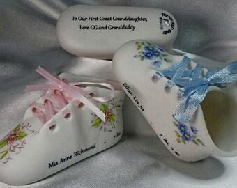 Porcelain baby shoe | Etsy