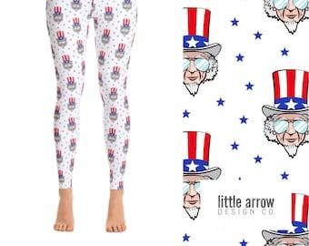 Uncle Sam Yoga Leggings