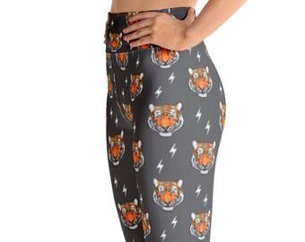 d16ca0ee23cf6b Tiger Yoga Leggings (grey)
