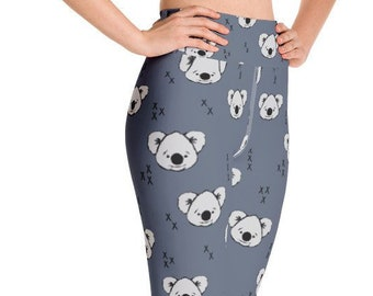 a861166ec74e6 Cute Koala Women's Yoga Leggings
