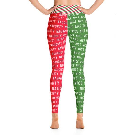 Naughty Vs Nice Christmas Yoga Leggings
