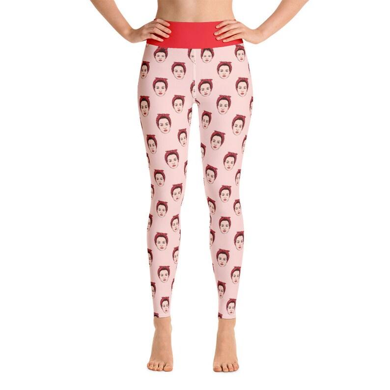Rosie the Riveter on Pink Women/'s Yoga Leggings